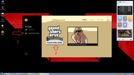 Pilih GTA San Andreas dan pilih Claim Free for game